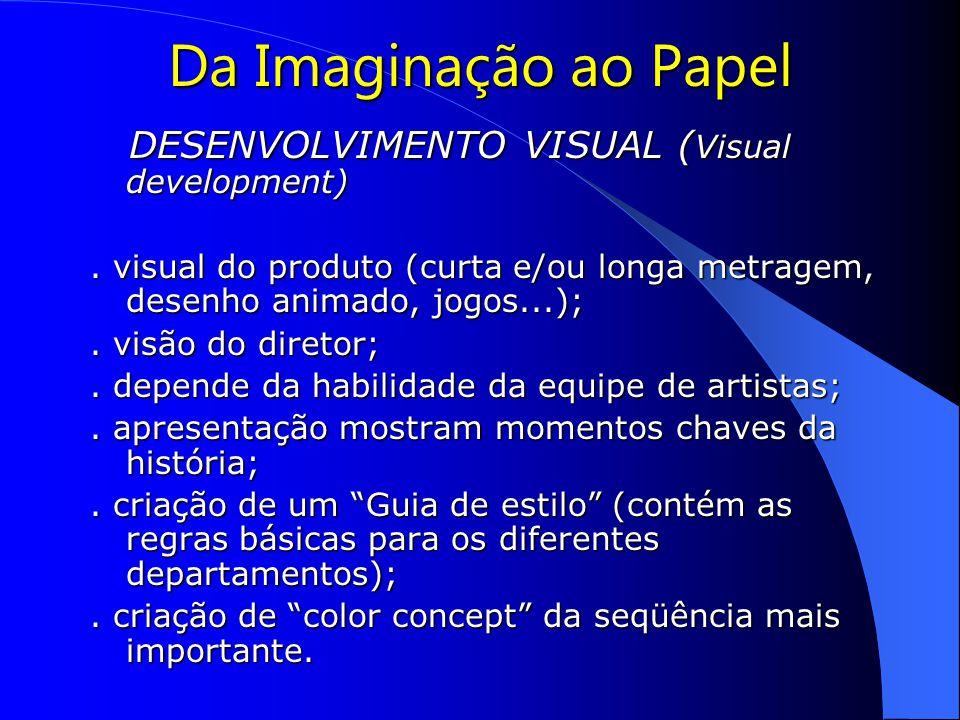 Da Imaginação ao Papel DESENVOLVIMENTO VISUAL ( Visual development) DESENVOLVIMENTO VISUAL ( Visual development).
