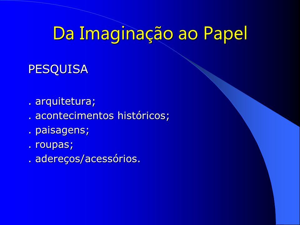 Da Imaginação ao Papel PESQUISA.arquitetura;. acontecimentos históricos;.