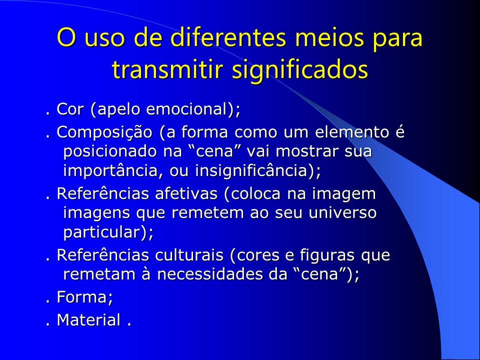 O uso de diferentes meios para transmitir significados.