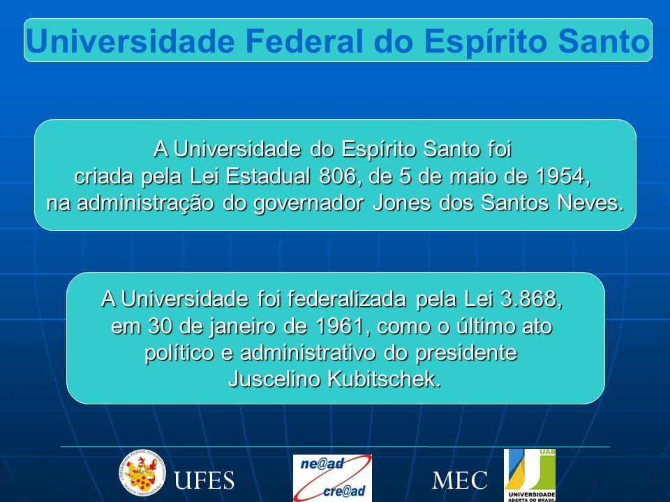 A proposta de EAD da UFES visa a introduzir a Universidade, cada vez mais, na cultura da Educação Aberta e a Distância, bem como na utilização das Novas Tecnologias da Comunicação e da Informação nos espaços formadores internos.