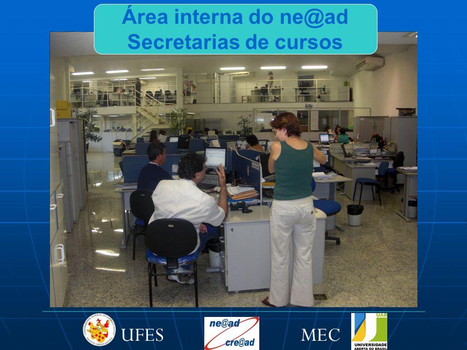 MECUFES Área interna do ne@ad Secretarias de cursos
