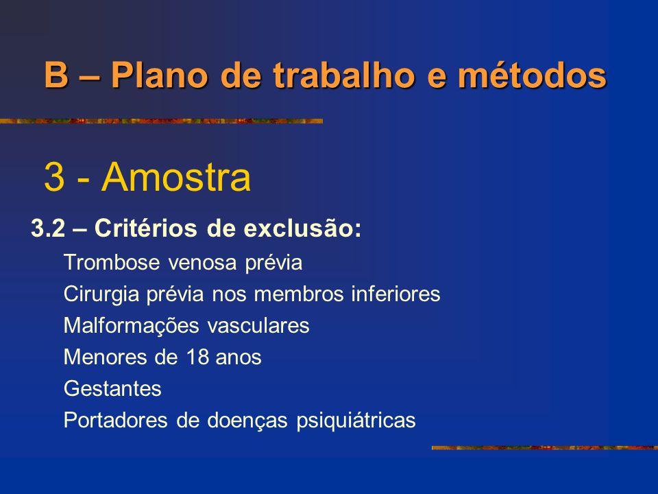 3 - Amostra 3.3 – Amostragem: Pacientes, saudáveis, recrutados através de busca ativa e solicitados a participarem de forma voluntária do estudo.