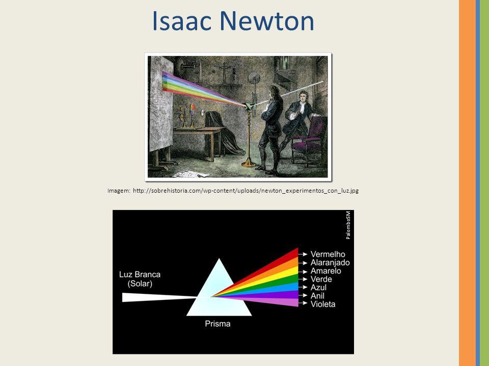 Isaac Newton Imagem: http://sobrehistoria.com/wp-content/uploads/newton_experimentos_con_luz.jpg PalomboSM