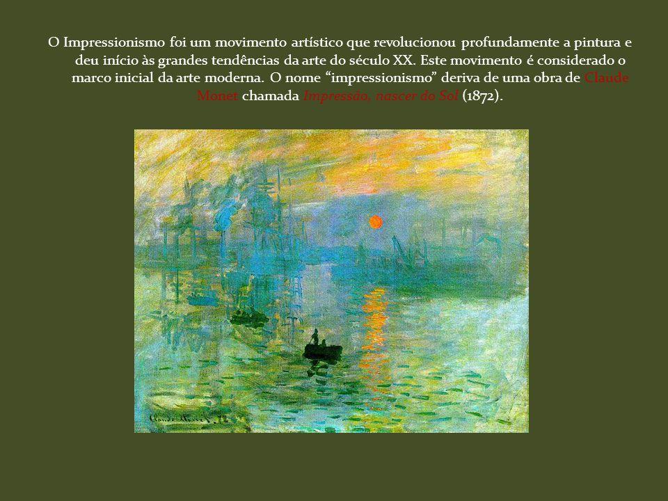 O Impressionismo foi um movimento artístico que revolucionou profundamente a pintura e deu início às grandes tendências da arte do século XX.