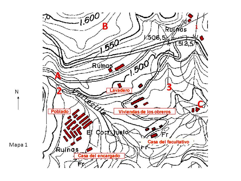 1 2 3 A B Mapa 1 C N