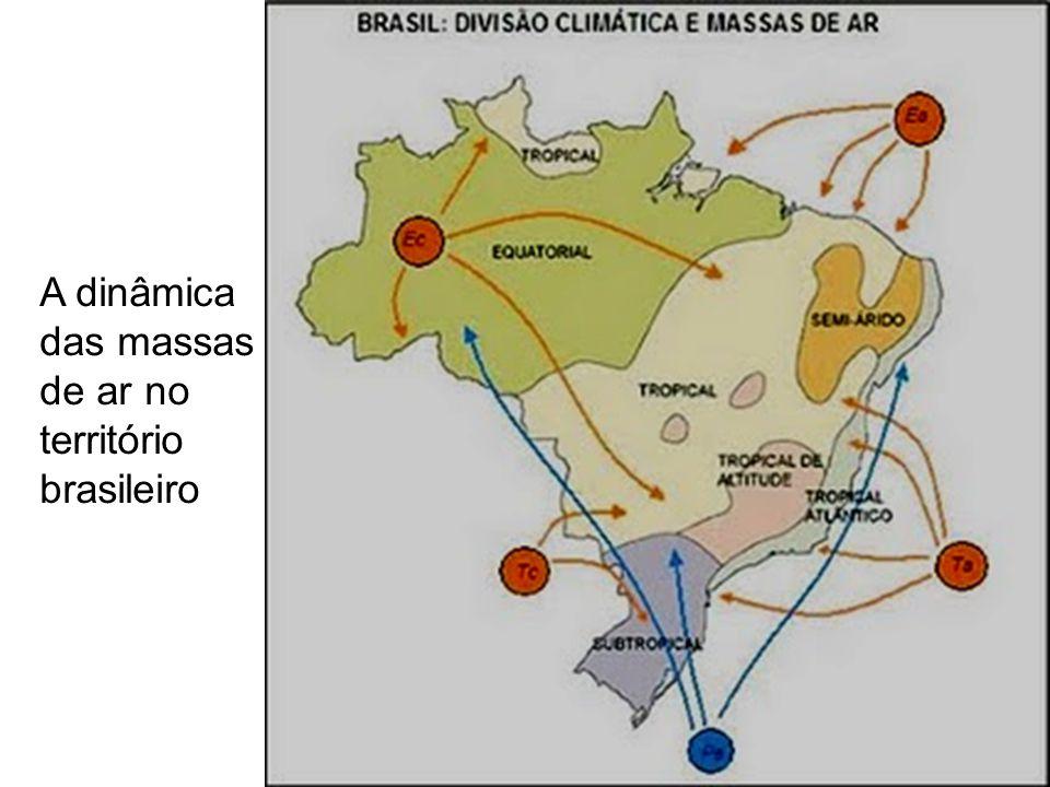 A dinâmica das massas de ar no território brasileiro