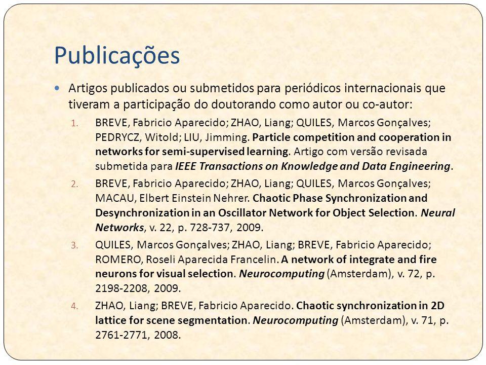 Publicações Artigos publicados ou submetidos para periódicos internacionais que tiveram a participação do doutorando como autor ou co-autor: 1.