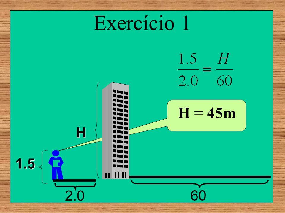 Exercício 1 60 2.0 1.5 H = 45m H