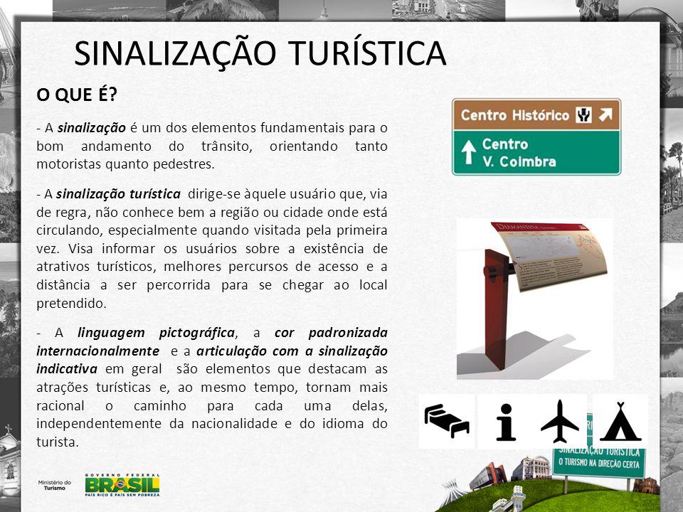SINALIZAÇÃO TURÍSTICA REGULAMENTAÇÃO - A sinalização de orientação turística faz parte de um conjunto de sinalização de indicação de trânsito.