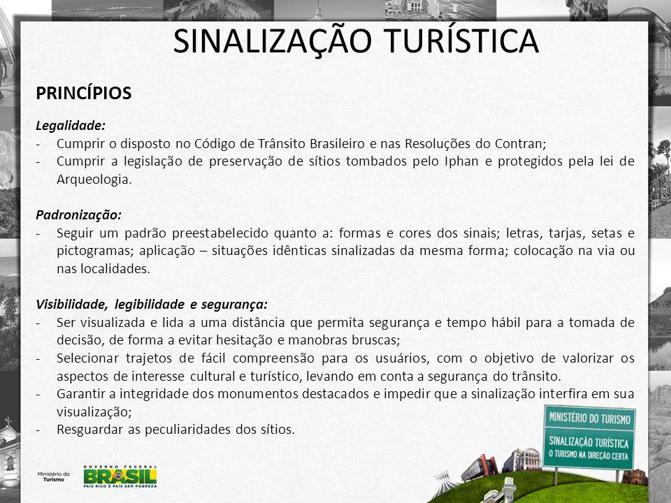 SINALIZAÇÃO TURÍSTICA Projeto para Circulação de Pedestres Exemplos de placas: - Placa de mirante: