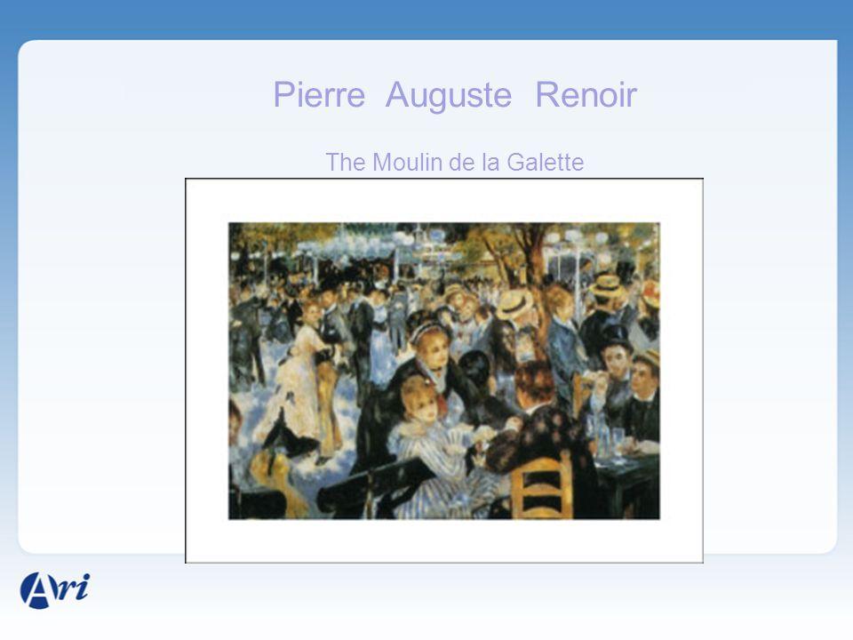 Pierre Auguste Renoir The Moulin de la Galette