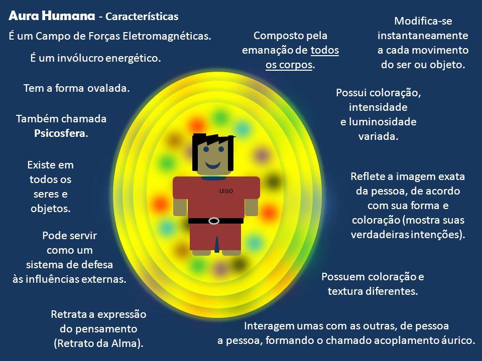 Aura Humana É um Campo de Forças Eletromagnéticas. Tem a forma ovalada. Possui coloração, intensidade e luminosidade variada. Também chamada Psicosfer