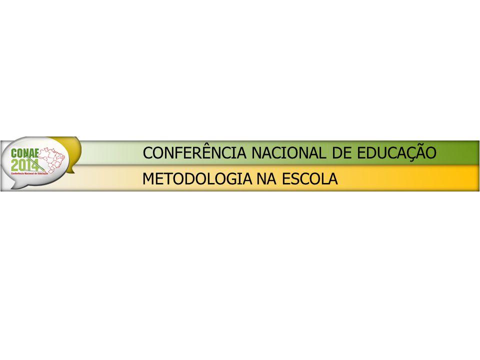 METODOLOGIA NA ESCOLA CONFERÊNCIA NACIONAL DE EDUCAÇÃO