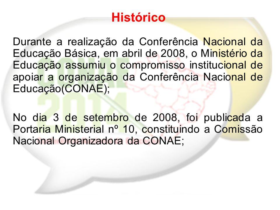 a) Avaliar a implementação das deliberações da CONAE/2010, verificando impactos e procedendo às atualizações de propostas para a elaboração de políticas nacionais de educação.