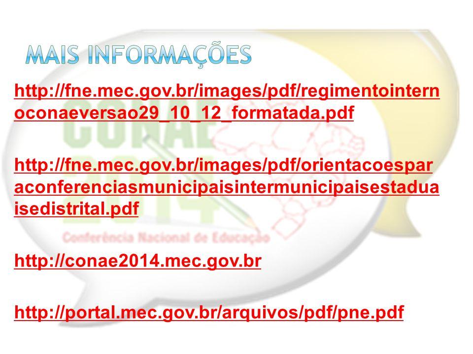 http://fne.mec.gov.br/images/pdf/regimentointern oconaeversao29_10_12_formatada.pdf http://fne.mec.gov.br/images/pdf/orientacoespar aconferenciasmunic