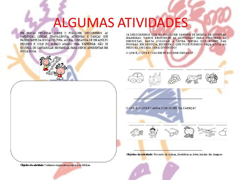ALGUMAS ATIVIDADES