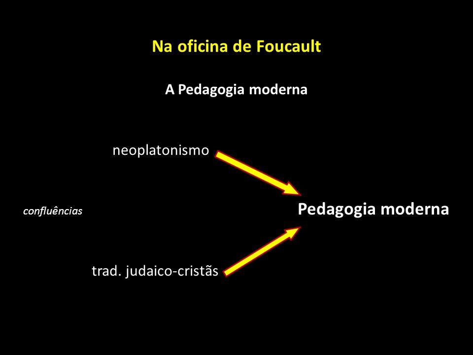 Na oficina de Foucault A Pedagogia moderna neoplatonismo confluências Pedagogia moderna trad. judaico-cristãs