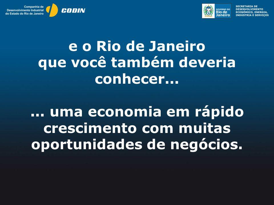 Quem somos: Companhia de Desenvolvimento do Estado de RJ.