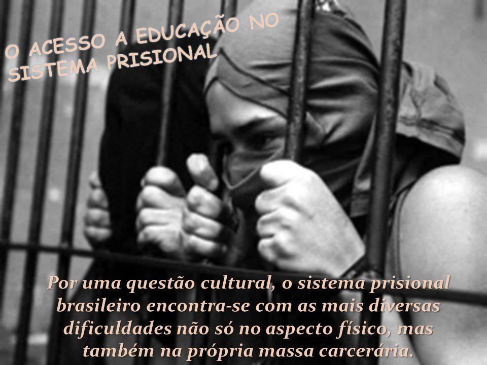 Por uma questão cultural, o sistema prisional brasileiro encontra-se com as mais diversas dificuldades não só no aspecto físico, mas também na própria