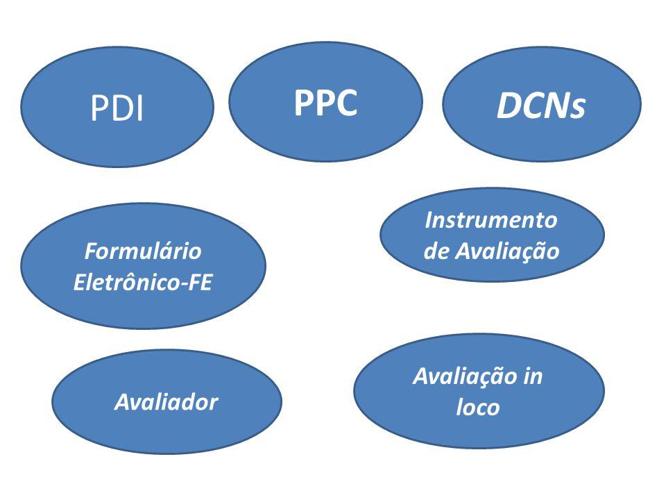 PDI Formulário Eletrônico-FE PPC DCNs Avaliação in loco Instrumento de Avaliação Avaliador