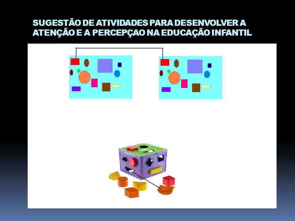 SUGESTÃO DE ATIVIDADES PARA DESENVOLVER A ATENÇÃO E A PERCEPÇAO NA EDUCAÇÃO INFANTIL
