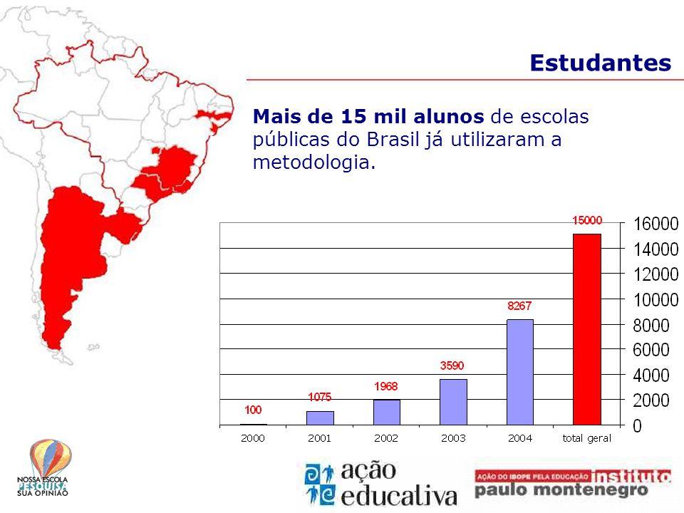Estudantes Mais de 15 mil alunos de escolas públicas do Brasil já utilizaram a metodologia.