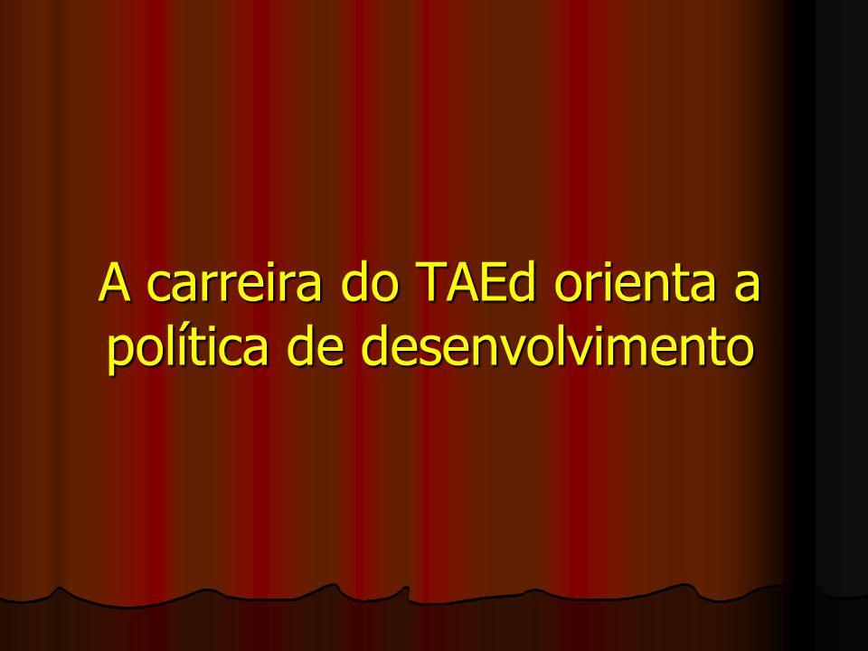 A carreira do TAEd orienta a política de desenvolvimento