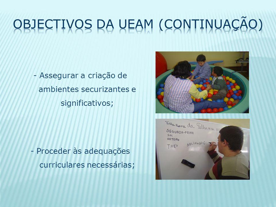 - Assegurar a criação de ambientes securizantes e significativos; - Proceder às adequações curriculares necessárias;