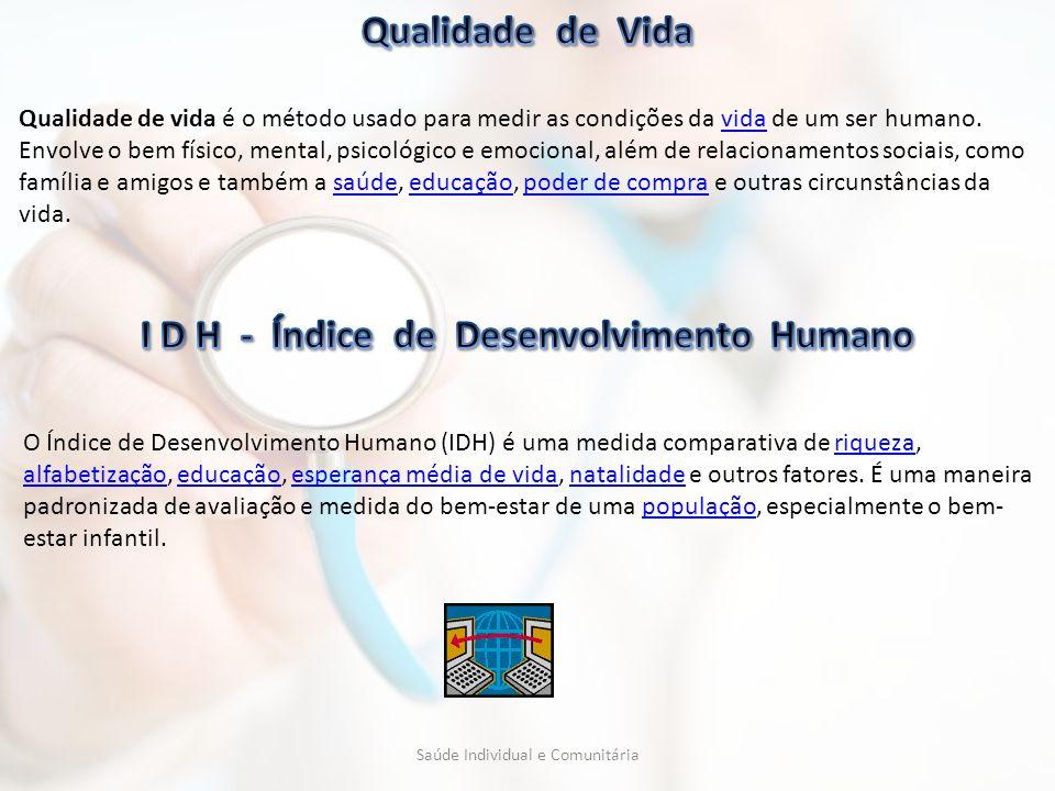 Qualidade de vida é o método usado para medir as condições da vida de um ser humano. Envolve o bem físico, mental, psicológico e emocional, além de re