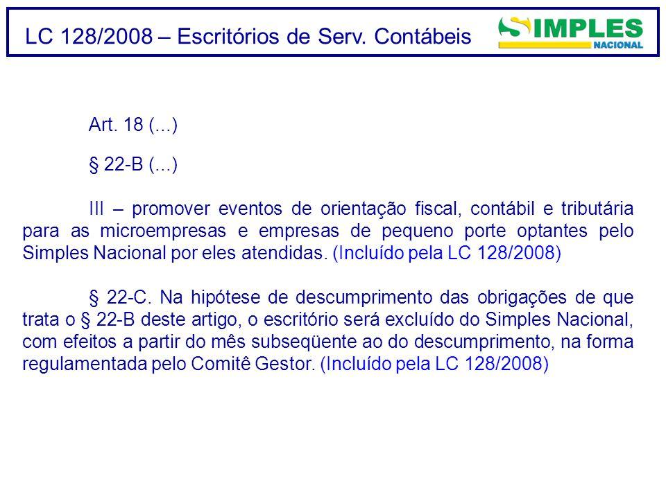 LC 128/2008 – Escritórios de Serv.Contábeis Art.