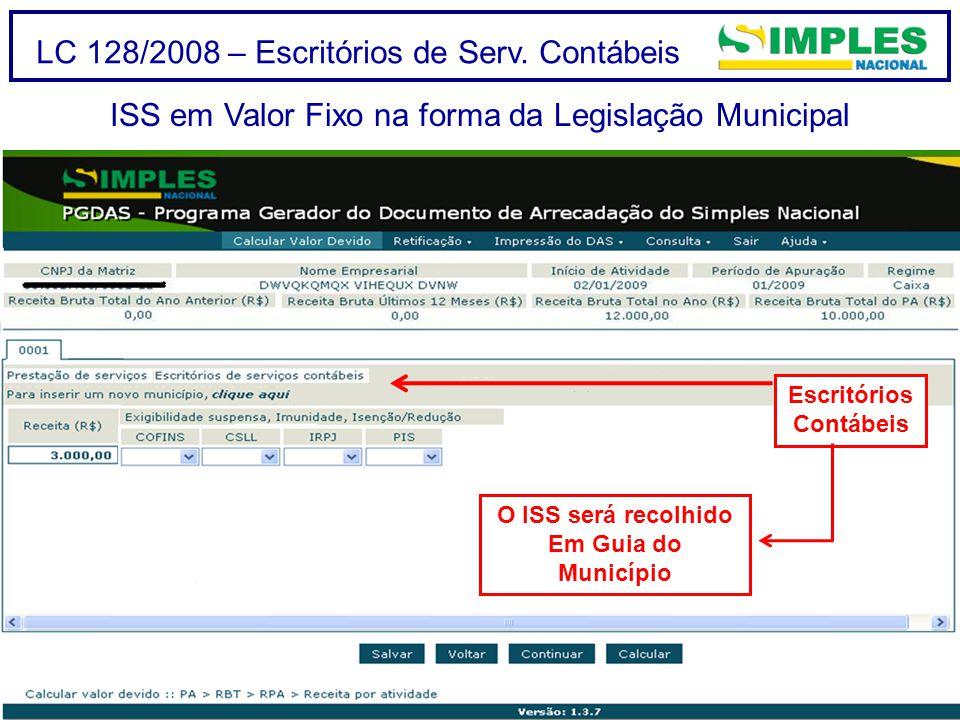 LC 128/2008 – Escritórios de Serv.