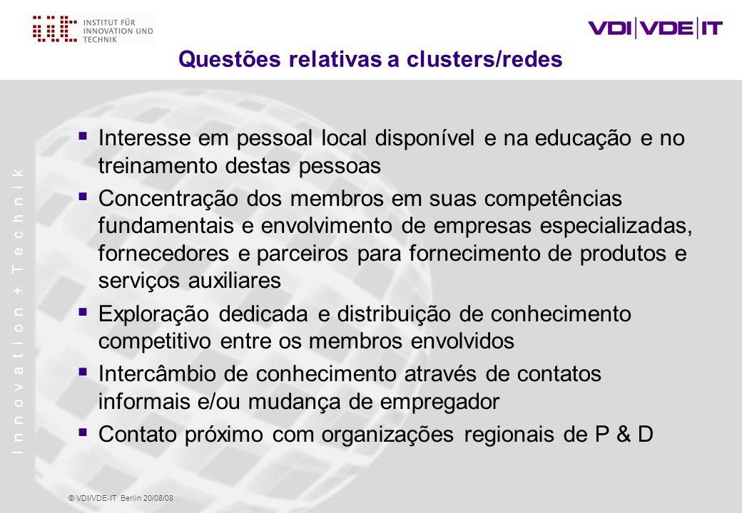 I n n o v a t i o n + T e c h n i k © VDI/VDE-IT Berlin 20/08/08 Situação em Manaus – Uma Visão de Fora  MINAPIM 2006: Apresentação Prospects for regional development in Manaus with Micro- and Nanotechnology - A view from outside ( Perspectivas para o Desenvolvimento Regional em Manaus com Micro e Nanotecnologia – Uma Visão de Fora )  Projeto de Consultoria VDI/VDE-IT–FUCAPI/SUFRAMA/CTPIM: Iniciação e Implementação de um Programa de Educação para Microtecnologia/Tecnologia em Microsistemas (Nível Técnico) em Manaus/Amazonas (Maio 2005) → Análise SWOT → Medidas para atuar nos pontos fracos