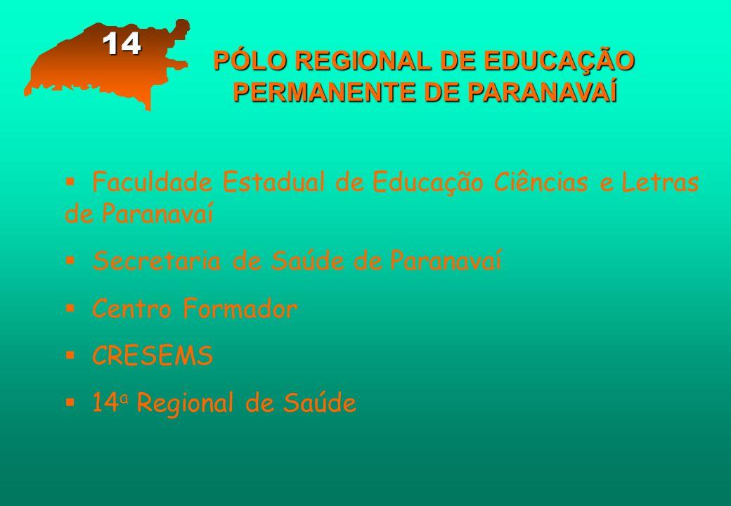 PÓLO REGIONAL DE EDUCAÇÃO PERMANENTE DE PARANAVAÍ   Faculdade Estadual de Educação Ciências e Letras de Paranavaí   Secretaria de Saúde de Paranav