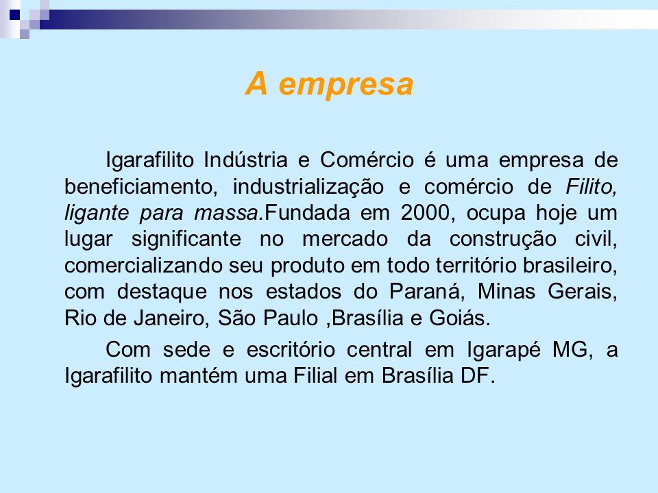 A empresa Igarafilito Indústria e Comércio é uma empresa de beneficiamento, industrialização e comércio de Filito, ligante para massa.Fundada em 2000,