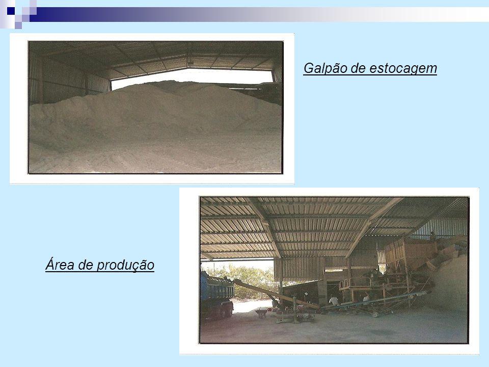 Galpão de estocagem Área de produção