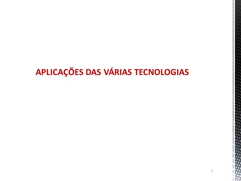 2 APLICAÇÕES DAS VÁRIAS TECNOLOGIAS