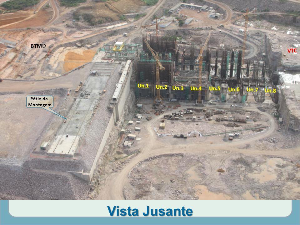 Vista Jusante Pátio da Montagem VTC BTMD Un.1 Un.2 Un.3 Un.4 Un.5 Un.6 Un.7 Un.8