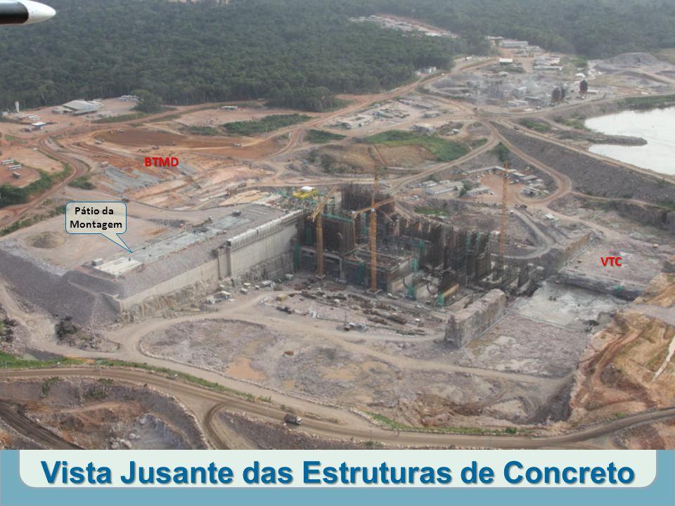 Vista Jusante das Estruturas de Concreto Pátio da Montagem VTC BTMD