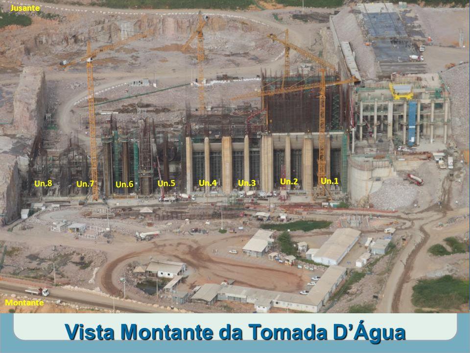 Vista Montante da Tomada D'Água Un.1 Un.2 Un.3Un.4 Un.5 Un.6 Un.7 Un.8 Jusante Montante