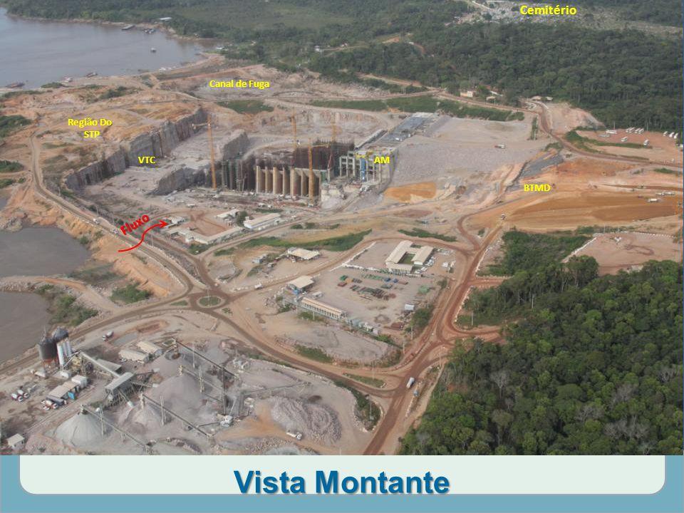 Vista Montante BTMD VTC Região Do STP Canal de Fuga AM Fluxo Cemitério