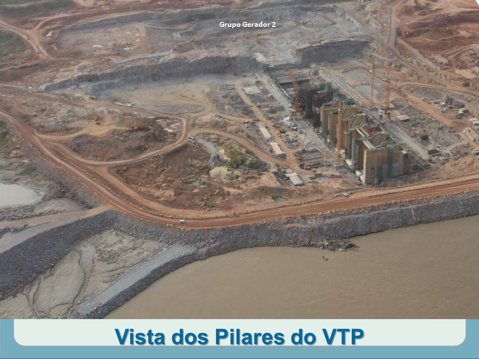 Vista dos Pilares do VTP Grupo Gerador 2