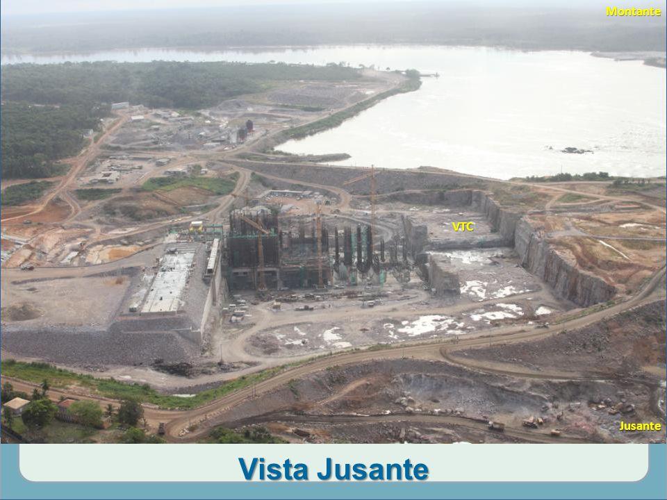 Vista Jusante MD ME Cemitério da Vila De Santo Antônio Fluxo VTCMontanteJusante