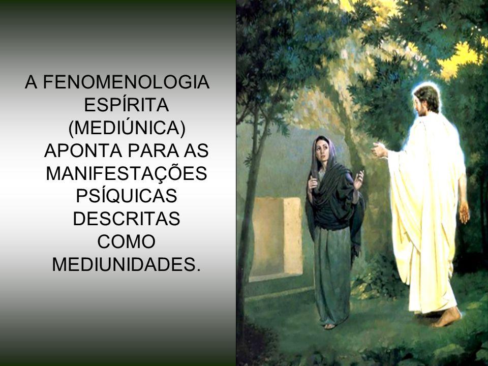 8 A FENOMENOLOGIA ESPÍRITA (MEDIÚNICA) APONTA PARA AS MANIFESTAÇÕES PSÍQUICAS DESCRITAS COMO MEDIUNIDADES.