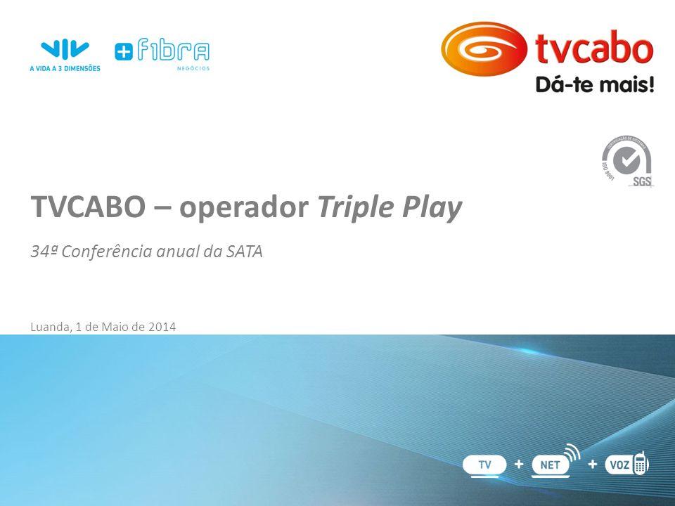 TVCABO – operador Triple Play 34ª Conferência anual da SATA Luanda, 1 de Maio de 2014