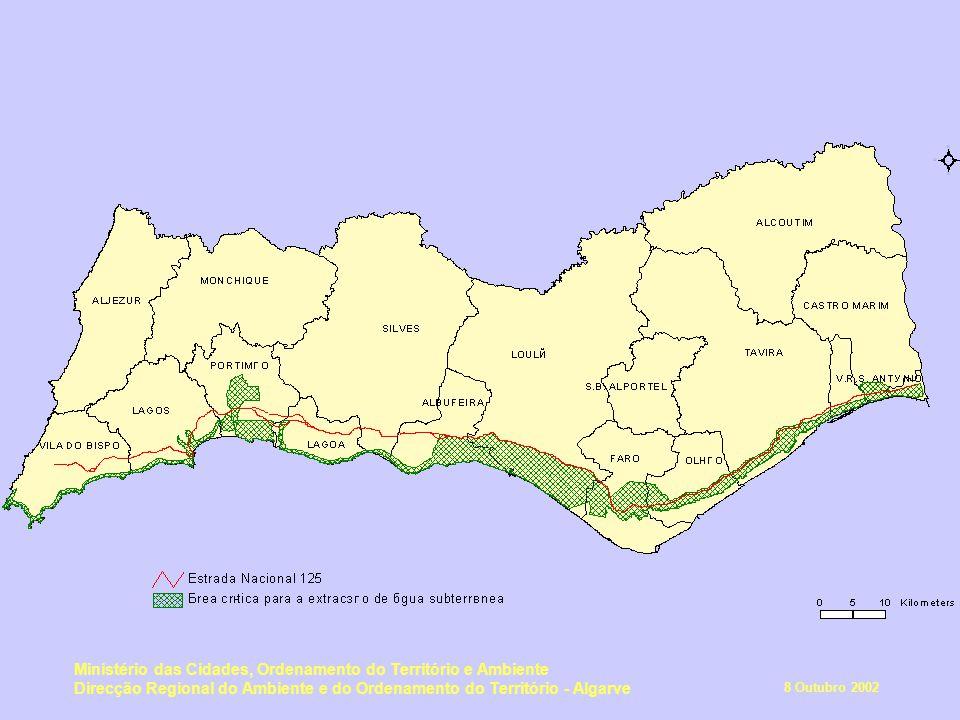 8 Outubro 2002 Ministério das Cidades, Ordenamento do Território e Ambiente Direcção Regional do Ambiente e do Ordenamento do Território - Algarve