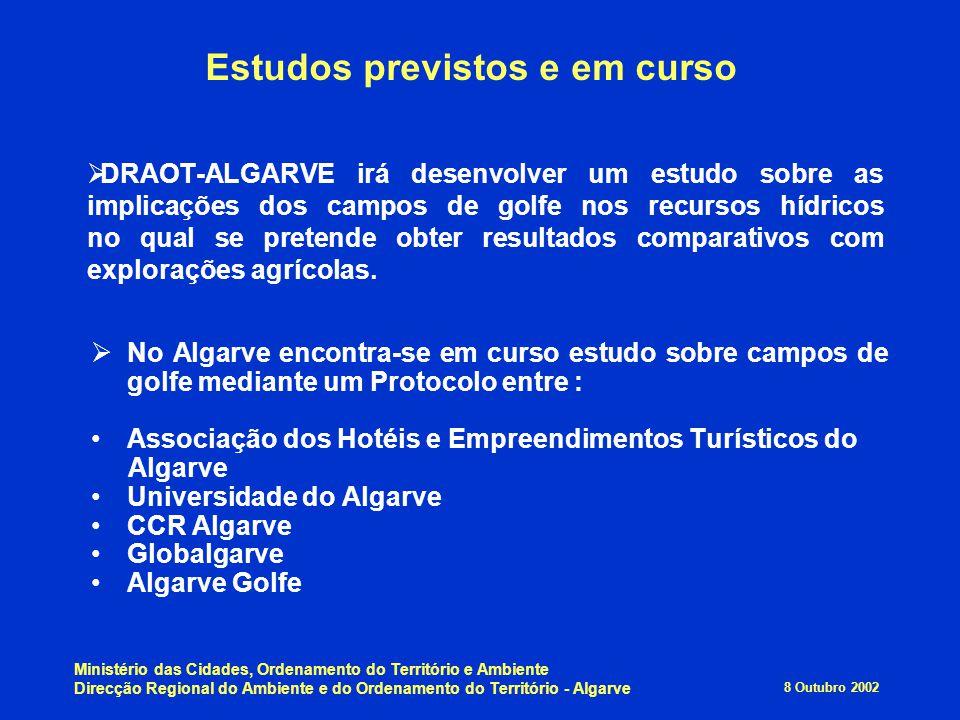 8 Outubro 2002 Ministério das Cidades, Ordenamento do Território e Ambiente Direcção Regional do Ambiente e do Ordenamento do Território - Algarve  D
