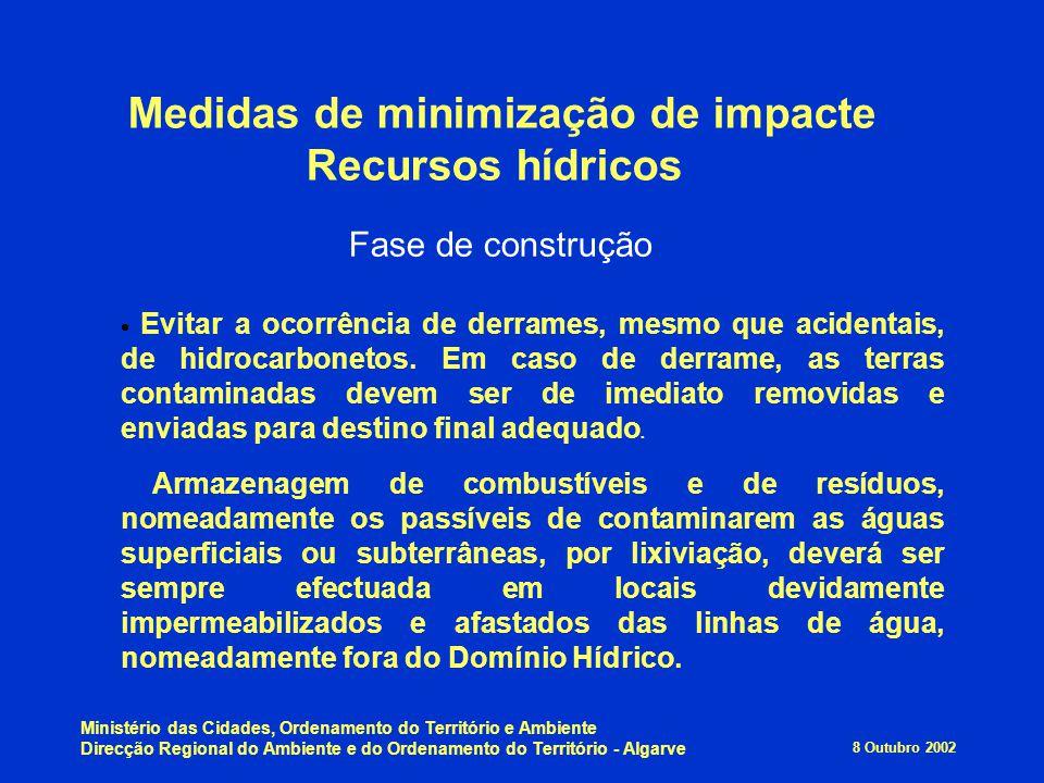 8 Outubro 2002 Ministério das Cidades, Ordenamento do Território e Ambiente Direcção Regional do Ambiente e do Ordenamento do Território - Algarve Med
