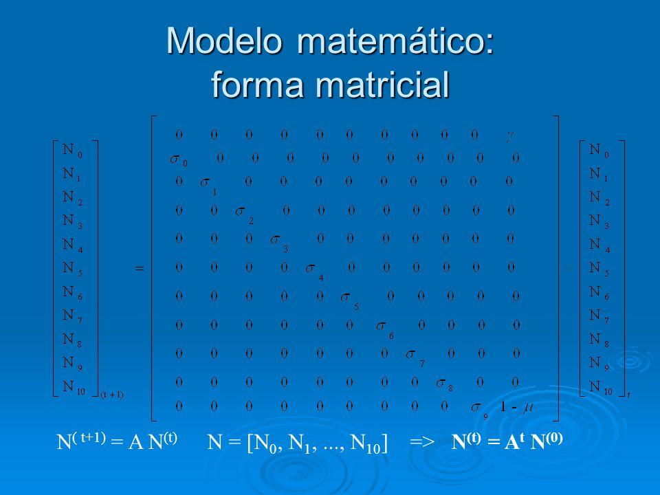 Estudo qualitativo do sistema: polinômio característico P( ) = det(A - I) P( ) = 10 (- +1-  ) +   0  1...