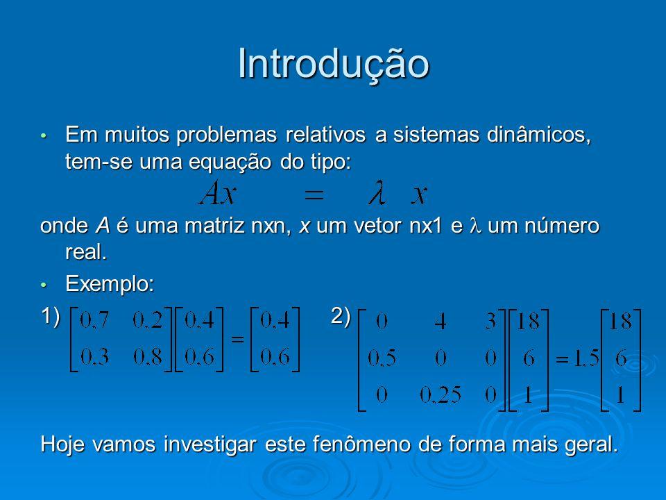 Definições: 1.Considere A uma matriz n x n.