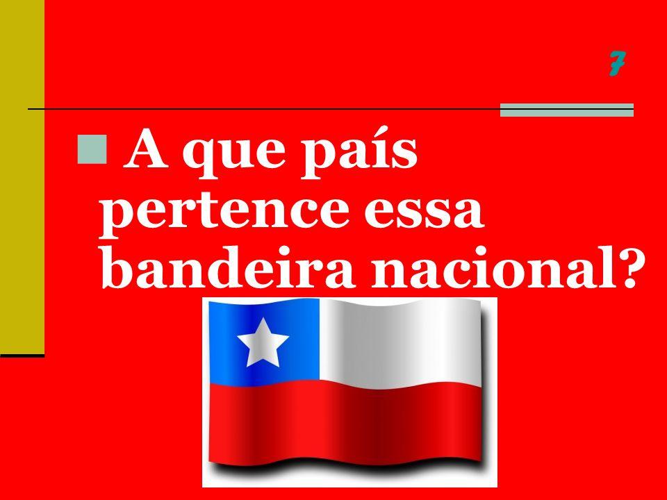 7 A que país pertence essa bandeira nacional